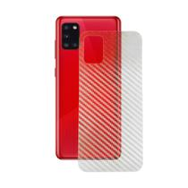 Capa Emborrachada Carbon Preta + Pelicula SKIN FIBRA CARBONO Samsung Galaxy A31 A315 (Tela 6.4) - Cell In Power25