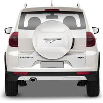 Capa Estepe Rígida VW Crossfox 2011 a 2018 Branco Cristal com Cadeado - Marçon