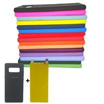 Capa Flexível Fosca Samsung Galaxy Note 8 Tela 6.3 + Pel Gel - Tipo