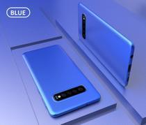 Capa Flip Carteira Couro Samsung Galaxy S10 Plus - Azul - Oem