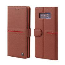 Capa Flip Carteira Couro Samsung Galaxy S10 Plus - Vermelho - Oem