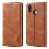 Capa Flip Carteira Samsung Galaxy M20 - Marrom - Matte