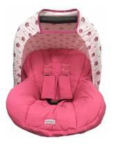 Capa Forro De Bebê Conforto Com Capota Algodão Coroa Rosa Menina - Casa Pedro