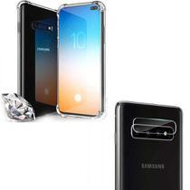 Capa Galaxy S10 Plus Anti Shock Impactos + Película Câmera Traseira - Encapar