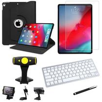 Capa Giratória iPad Pro 2a Geração 11.0' + Película + Teclado + Suporte Mesa + Caneta - Armyshield -