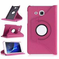 Capa Giratória Rosa Galaxy Tab A T110 T111 + Pel. de Vidro - Renew