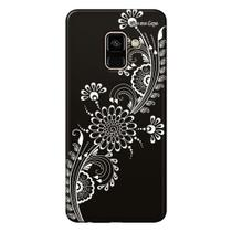 Capa Grafite Personalizada para Samsung Galaxy A8 A530F - Flor Tribal - GF09 - Matecki