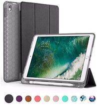 Capa iPad 6 Geração 9.7 Polegadas WB Antichoque Preta Com Compart. P/Apple Pencil - A1822 / A1823 / A1893 / A1954 -