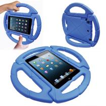 Capa Ipad Mini 1 2 3 Apple Anti Choque Infantil Volante Azul - Fam