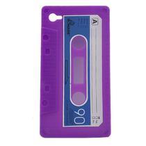 Capa Iphone 4/4S K7 Tape Roxo - Idea -