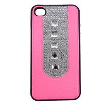 Capa Iphone 4/4S Pc Shine Pedras Rosa - Idea