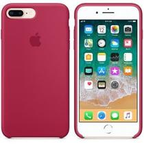 Capa iPhone 7/8 Plus Silicone Case Rose Red + Película de vidro - M3 imports