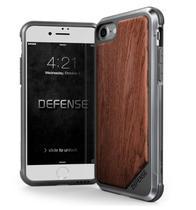 Capa Iphone 7/8 X-Doria Defense Lux Madeira Military Grade Drop Capa Proteção em Alumínio Premium -
