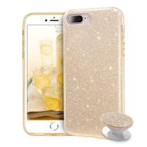 Capa iphone 7 plus glitter 3x1 dourado pop socket glitter - Quarkcase