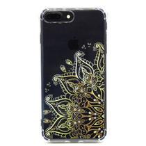 capa iphone 7 Plus iphone 8 Plus cristal estillo anti impacto feminina estampada mandala dourada -