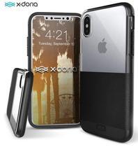 Capa iPhone Xr Tela 6.1 Dash X-Doria Couro Preto Anti Impacto Military Tested Drop Test Alumínio -