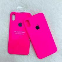 Capa Iphone XS Max Silicone Case Rosa Pink + Película de Vidro - M3 Imports