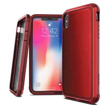 Capa Iphone Xs Max Tela de 6.5 Anti Impacto X-doria Defense Ultra Military Grade Drop em Alumínio Premium Couro -