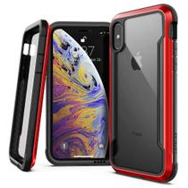 Capa iPhone Xs X Anti-Impacto X-Doria Defense Shield  Military Grade Drop em Alumínio Premium Vermelho -