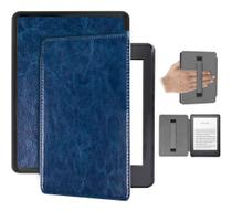 Capa Kindle 10ª geração com iluminação embutida  Auto Hibernação  Fecho Magnético  Alça Azul - Fullmosa