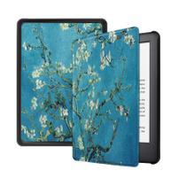 Capa Kindle 10ª geração com iluminação embutida  Auto Hibernação  Fecho Magnético  Apricot Flower - Fullmosa