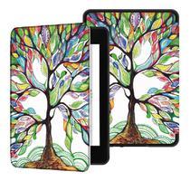 Capa Kindle 10ª geração com iluminação embutida  Auto Hibernação  Fecho Magnético  Árvore Florida - Fullmosa