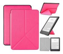 Capa Kindle 10ª geração com iluminação embutida  Auto Hibernação  Fecho Magnético  Origami Pink - Fullmosa