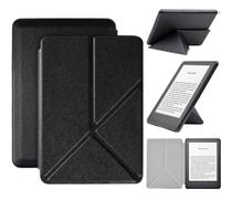 Capa Kindle 10ª geração com iluminação embutida  Auto Hibernação  Fecho Magnético  Origami Preta - Fullmosa