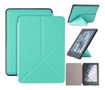 Capa Kindle 10ª geração com iluminação embutida  Auto Hibernação  Fecho Magnético  Origami Verde - Fullmosa