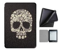 Capa Kindle 10ª geração com iluminação embutida  Auto Hibernação  Fecho Magnético  Silicone Skull - Fullmosa