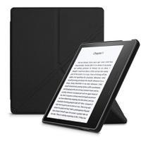 Capa Kindle Oasis 3 - Auto Liga/Desliga - Ultra Leve - Fechamento Magnético - Origami - Preta - Fullmosa