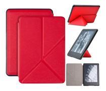 Capa Kindle Paperwhite 10ª geração à prova d'água - Hibernação - Fech. magnético - Origami Vermelha - Fullmosa
