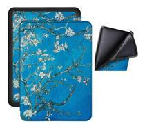 Capa Kindle Paperwhite 10ª geração à prova d'água - Hibernação - Fech. magnético - Silicone Apricot - Fullmosa