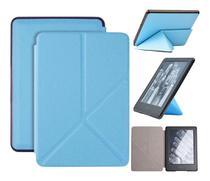 Capa Kindle Paperwhite 10ª geração à prova d'água - Hibernação - Fechamento magnético - Origami Azul - Fullmosa