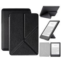Capa Kindle Paperwhite 10ª geração à prova d'água- Hibernação - Fechamento magnético - Origami Preta - Fullmosa