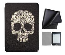 Capa Kindle Paperwhite 10ª geração à prova d'água- Hibernação- Fechamento magnético - Silicone Skull - Fullmosa