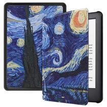 Capa Kindle Paperwhite 10ª geração à prova d'água - Hibernação - Fechamento magnético - Van Gogh - Fullmosa