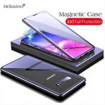 Capa Magnética Galaxy S10e tela 5,8 Alumínio Premium Traseira de Vidro Temperado Preto - Q-Touch