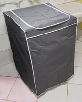 Capa MÃquina de Lavar Brastemp 16 kg Flanelada Com ZÃper Cinza - Ribercapas -