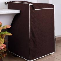 Capa Maquina de Lavar Eletrolux Café 10 kg a 11,5 kg - Charme Do Detalhe