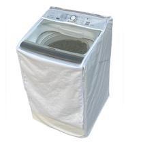 Capa Máquina de Lavar Panasonic 14kg NA-F140B5W Zíper Painel Transparente Branca - Vip Capas