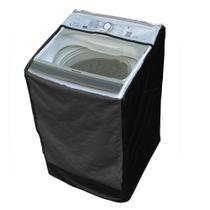 Capa Máquina de Lavar Panasonic 14kg NA-F140B5W Zíper Transparente Preta - Vip Capas
