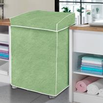 Capa máquina de lavar - verde perolizada - Vida Pratika