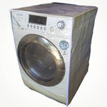 capa maquina lava e seca transparente c/ ziper  7 8 9 e 10kg - Duarte Mota Enxovais!