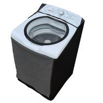 Capa Maquina Lavar Brastemp 15kg Ziper Painel Transparente - Vip Capas