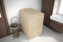 Capa Maquina Lavar Roupas Brastemp Consul 10kg a 11,5kg Bege - Adomes