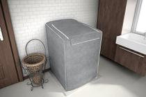 Capa Maquina Lavar Roupas Brastemp Consul 12kg a 16kg Cinza - Adomes