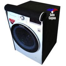 Capa Maquina Lavar Roupas Eletrolux 12kg 15kg 16kg + Grossa cor marrom - Gdn Capas