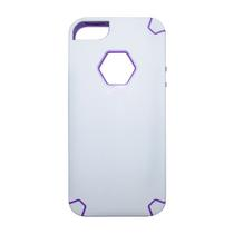 Capa My Capa Hexa Apple Iphone 5 5S SE - Branca com Roxo