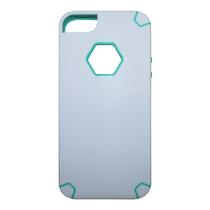 Capa My Capa Hexa Apple Iphone 5 5S SE - Branca com Verde